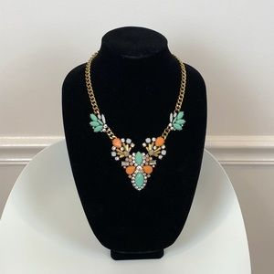 J.Crew Statement necklace in vibrant blue & orange